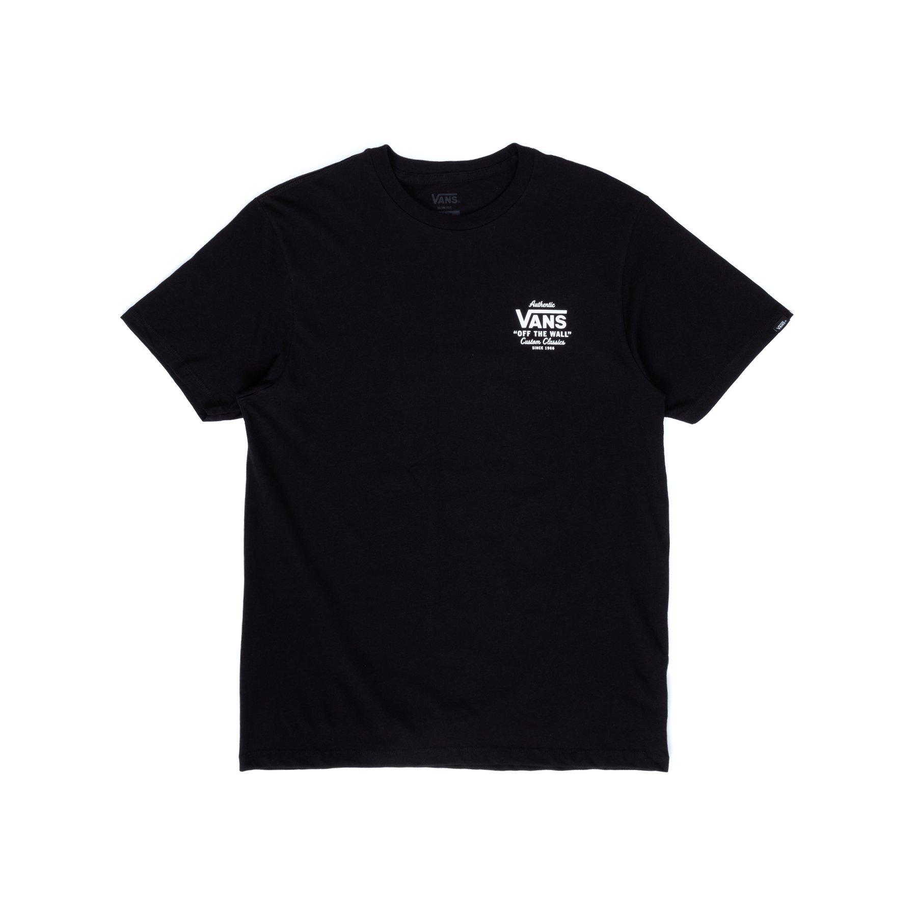 VANS HOLDER STREET II T-SHIRT - BLACK/WHITE