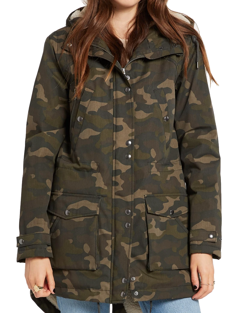 VOLCOM WALK ON BY 5K NUTS PARKA JAS - CAMOUFLAGE