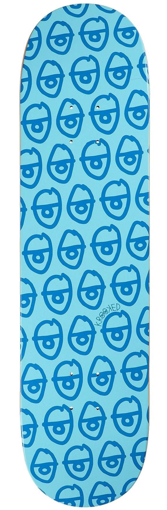 """KROOKED PEWPILS SKATEBOARD DECK 8.06"""" - BLUE"""