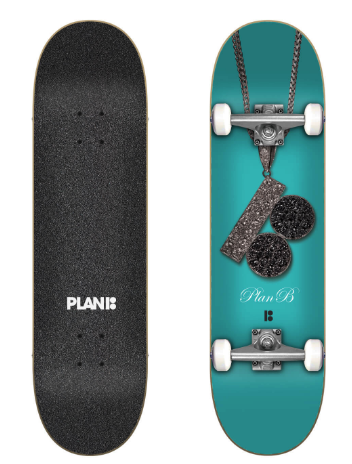 "PLAN B TEAM CHAIN 8.0"" SKATEBOARD COMPLETE"