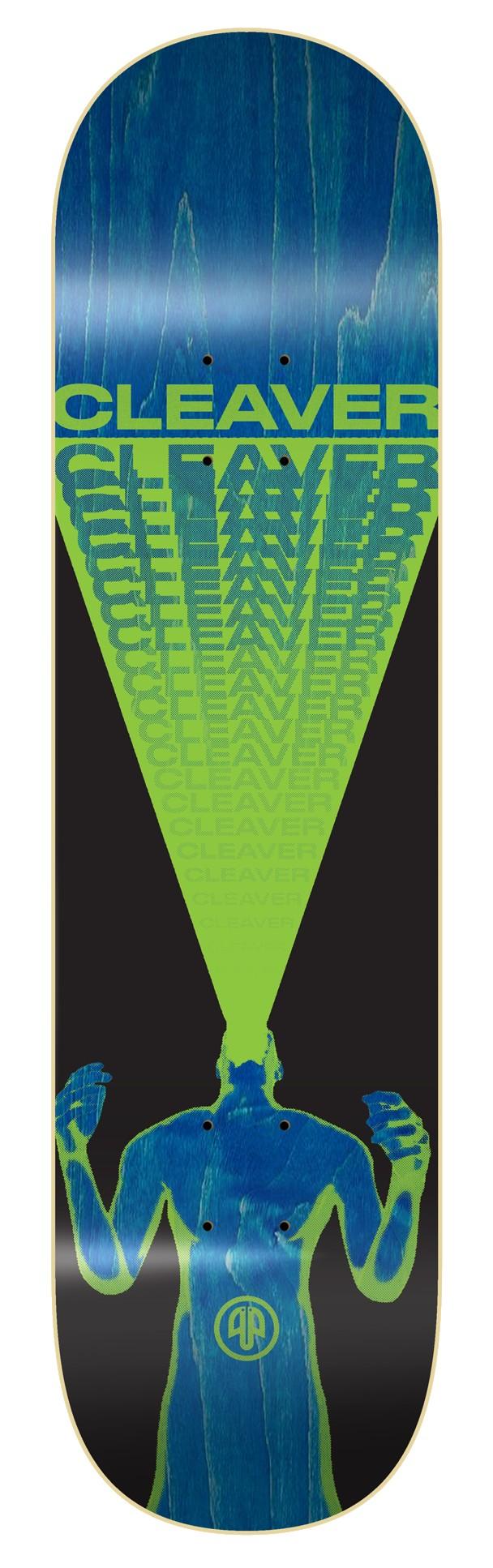 "CLEAVER ""SCREAM"" SKATEBOARD DECK - GREEN"