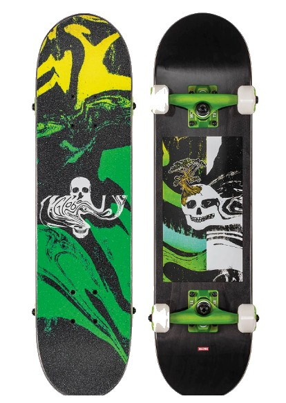 "GLOBE MT WARNING MINI 7.0"" SKATEBOARD COMPLETE - AIR"