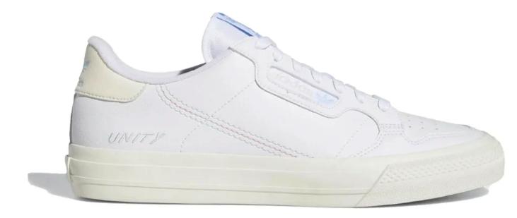 ADIDAS CONTINENTAL VULC X UNITY SCHOENEN - FOOTWEAR WHITE/CHALK WHITE/LIGHT BLUE