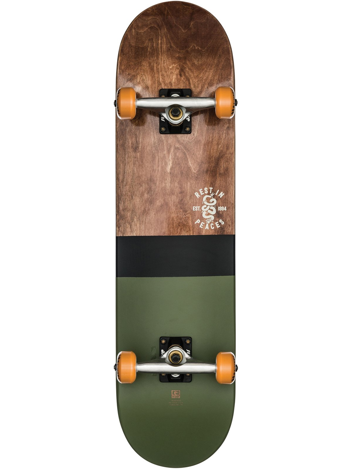 GLOBE G2 HALF DIP 2 SKATEBOARD COMPLETE - DARK MAPLE/HUNTER GREEN