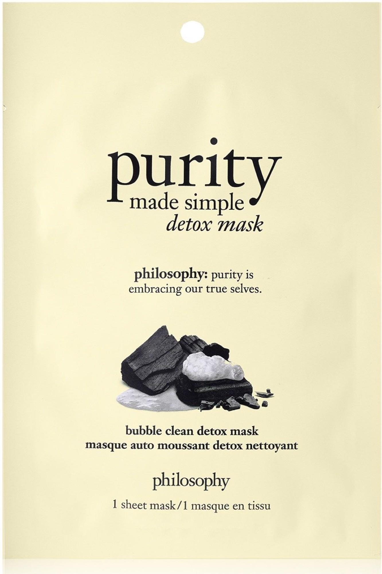purity bubble clean detox mask