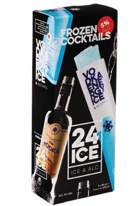 24 ICE Vodka Energy ijs doos 5 stuks