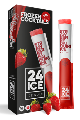 24 ICE Strawberry Daiquiri ijs doos 5 stuks