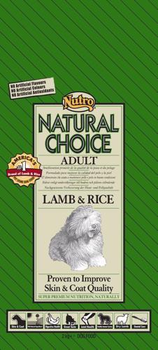 NUTRO ADULT LAMB & RICE 7 KG