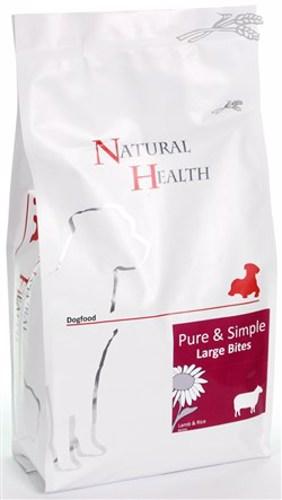 NATURAL HEALTH DOG LAM/RIJST LARGE BITE 2KG
