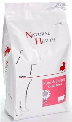 NATURAL HEALTH DOG LAM/RIJST SMALL BITES  2,5KG
