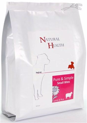 NATURAL HEALTH DOG LAM/RIJST SMALL BITES 0,4KG