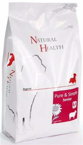 NATURAL HEALTH DOG LAM/RIJST SENIOR  2KG