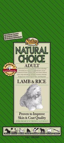 NUTRO ADULT LAMB/RICE 2 KG