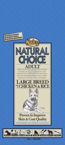 NUTRO ADULT LARGE CHICKEN/RICE 12 KG