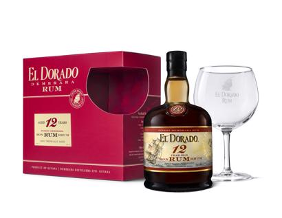 El Dorado 12 Yrs met glas