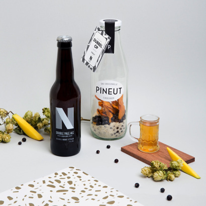 Pineut Dubbelop Bierlikeur + Fles DPA