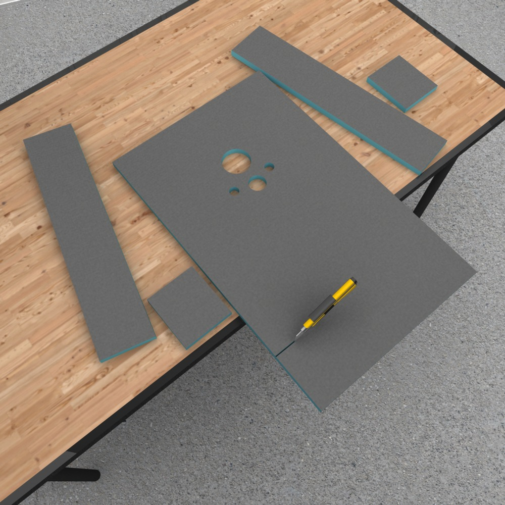 wedi i-board bouwplaat 120x124,5x2 cm inclusief