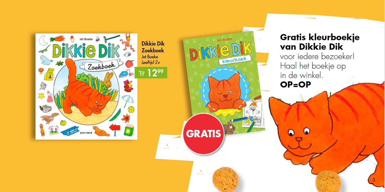 Dikkie Dik zoekboek + Gratis kleurboek voor iedere bezoeker