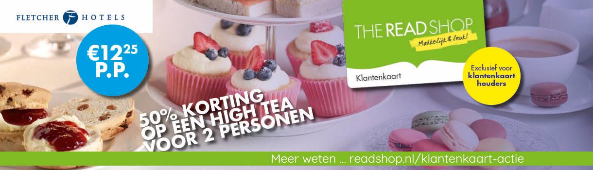 Exclusieve actie voor The Read Shop klantkaarthouders - 50% korting op een high tea voor 2 personen