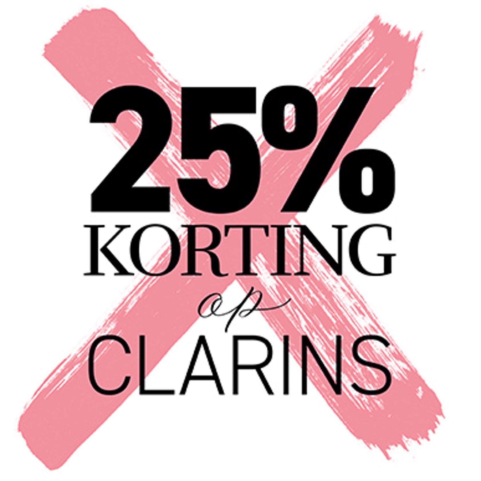 Clarins nu met 25% korting bij BeautyX