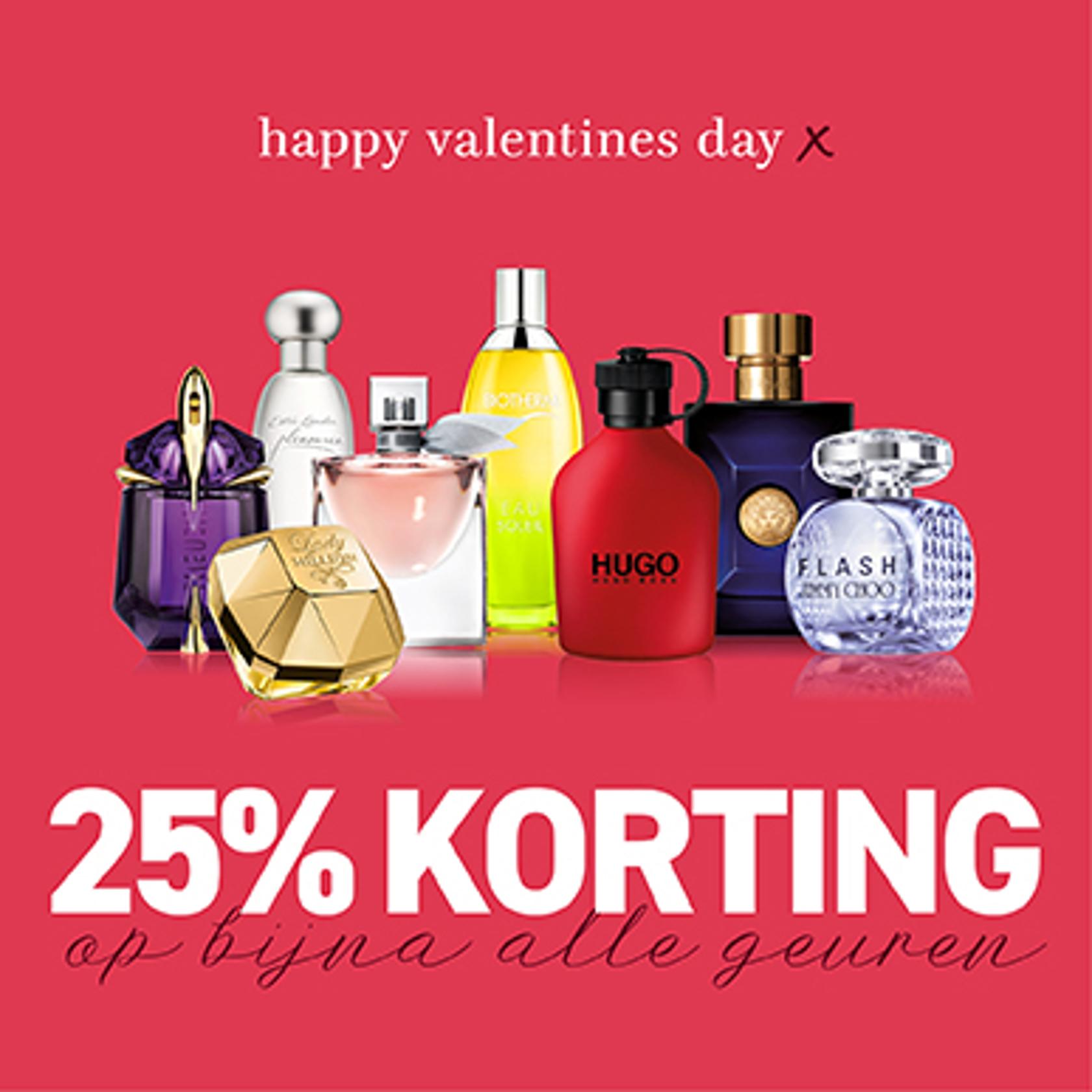Valentijn 25% korting bij BeautyX