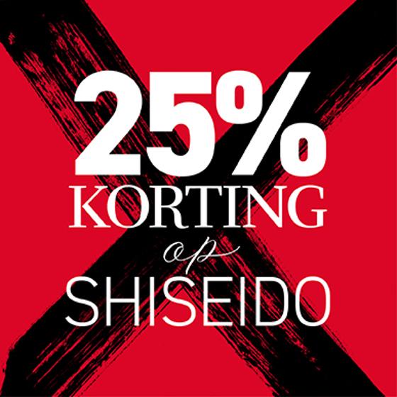 Shisheido nu met 25% korting bij BeautyX